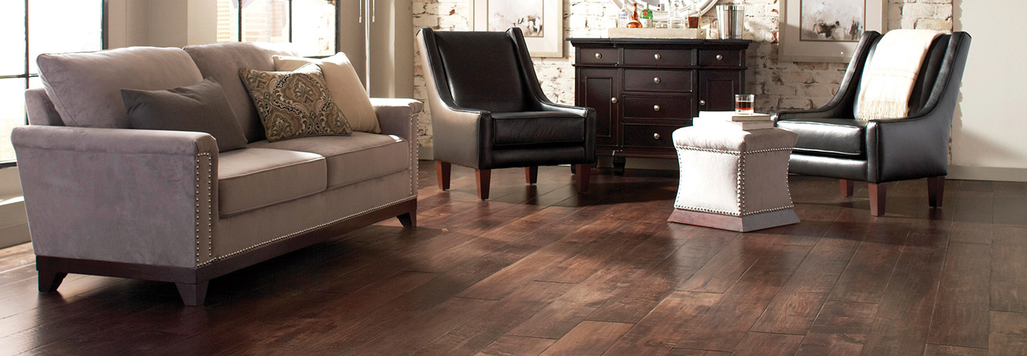 Relax in your living room with new hardwood flooring.  Serving Webster, Clearlake, and Houston, TX