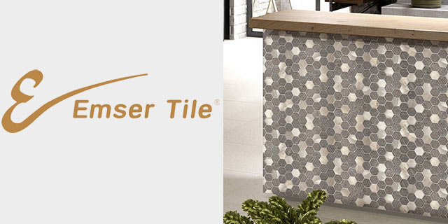 Featuring tile from Emser.